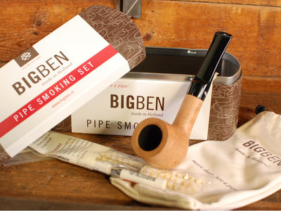 BigBen Pipe Smoking Set  Pure straight