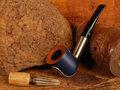 BigBen Mavyn blue matt - nature top - allu polished black mouthpiece